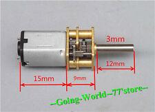 1pcs N20 DC Gear Moto 3V 5V 6V Micro Gear Motor Robot 12mm shaft New 50-100rpm