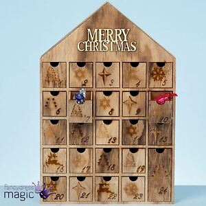 40cm holz weihnachten fr hliche haus countdown. Black Bedroom Furniture Sets. Home Design Ideas