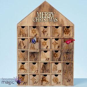 40cm holz weihnachten fr hliche haus countdown adventskalender dekoration ebay. Black Bedroom Furniture Sets. Home Design Ideas