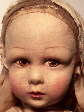 "LA VENUS 17"" Catholic Communion Confirmation Felt Doll 1930's #2"