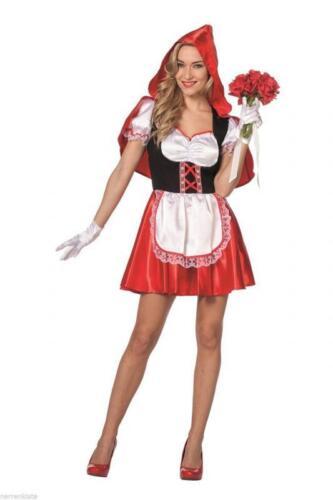 Rotkäpchen Damen Rotkäppchen Kostüm Kleid Märchenkostüm Umhang