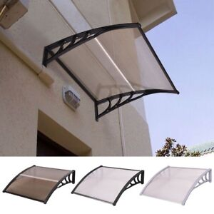 Home Window Polycarbonate Front Door Awning Canopy Sun Rain Cover 3