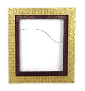 """Antique Wood Gesso Ornate Pattern Baroque Gold Picture Frame Fits 12.5"""" x 10.5"""""""