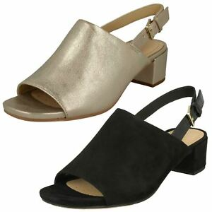 Ladies Black Orabella Champagne Leather Suede Ivy Clarks Or Smart rwtzqrp