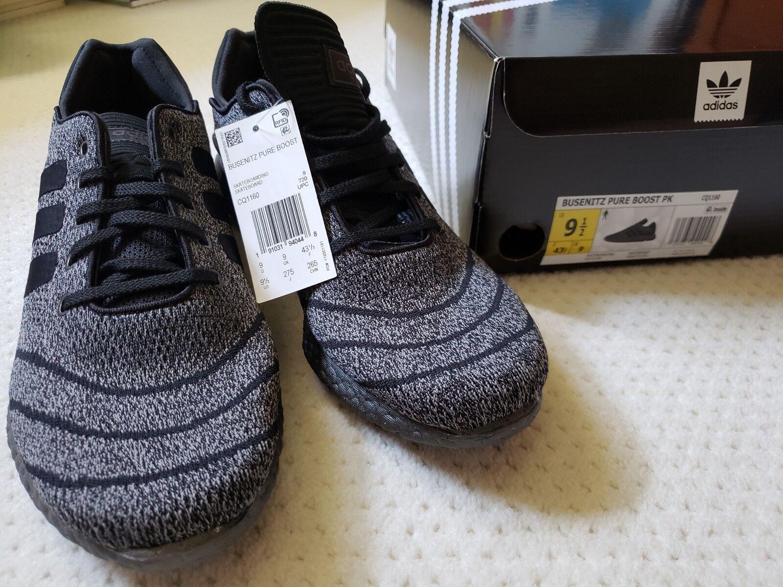 Adidas Busenitz Pure Boost PK Triple Black Grey Running Shoes 11.5 Mens CQ1160 191031936229 | eBay