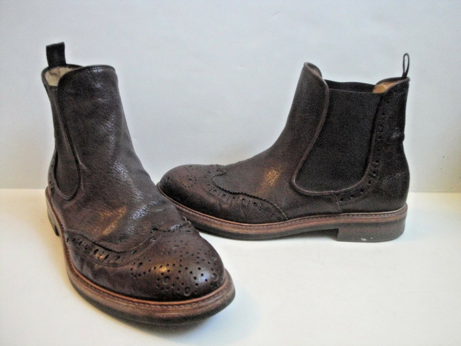 ANTONIO MAURIZI Wing Tip Chukka Ankle Boots Size US 11