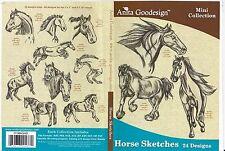 Anita Goodesign, Horse Sketches, Embroidery Machine Design CD
