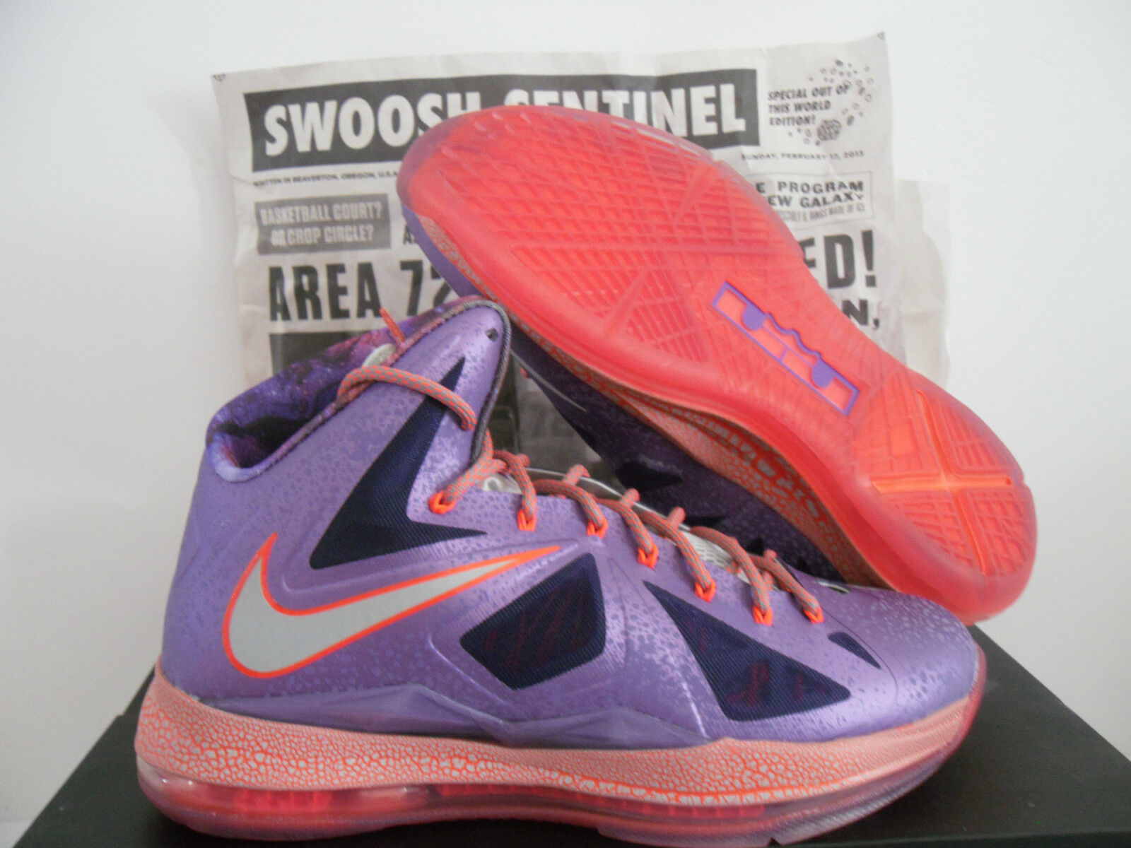 NIKE LEBRON X 10 AS AREA 72 ALL SZ STAR GALAXY LASER PURPLE SZ ALL 10.5 [583108-500] 4577bd