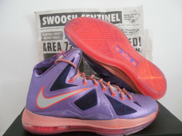finest selection 00f65 90fe1 NIKE LEBRON X 10 AS AREA 72 ALL STAR GALAXY LASER PURPLE SZ 10.5  583108