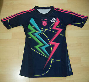 Used-Stade-Francais-men-039-s-2009-2010-home-rugby-shirt-small