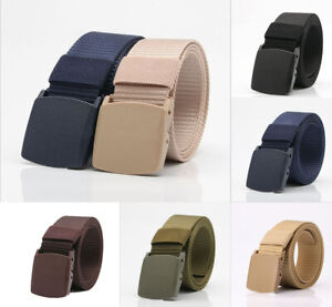 Men-039-s-Military-Outdoor-Sport-Military-Tactical-Nylon-Waistband-Canvas-Web-Belt