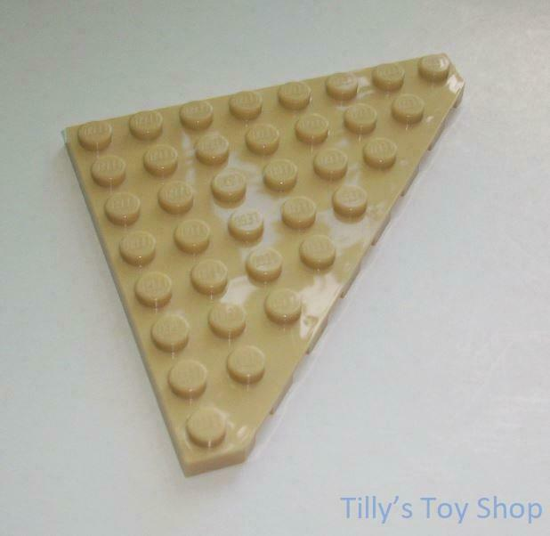 Lego -Two 8x8 Corner Wedge Thin Tile Plate - Brick Yellow- ID 30504 - NEW