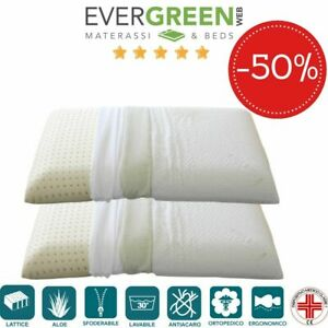 Meglio Cuscino In Lattice O Memory Foam.Coppia Cuscini In Lattice O Memory Federe In Aloe Vera Per
