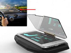 Auto-GPS-Navigation-Holder-HUD-Head-Up-Projection-Display-Non-slip-Phone-Bracket