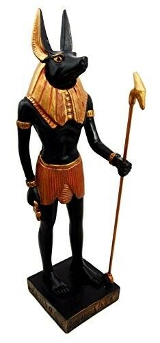 Ancient Egyptian Deity of Mummification Afterlife God Anubis Classical Figurine