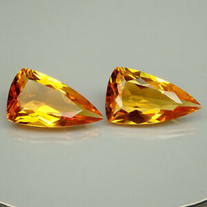 28-35Ct-Glittering-Pair-Golden-Orange-Citrine-Fancy
