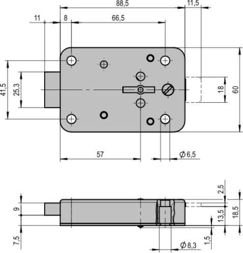 Tresorschloss Waffenschrank Doppelbartschloss STUV 4.19.92 mit zwei Schlüssel