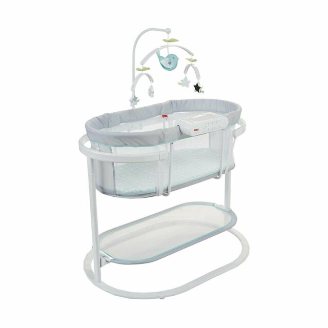 Fisher-Price Soothing Motions Bassinet Replacement Mobile with 3 Toys DPV71