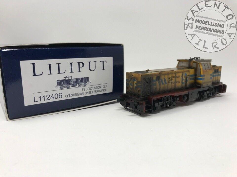 LILIPUT 112406 locomotive diesel for trains construction CLF Bologna - aged