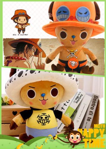 30CM Anime ONE PIECE Portgas·D· Ace Trafalgar Law Plush Doll Soft Stuffed Toy