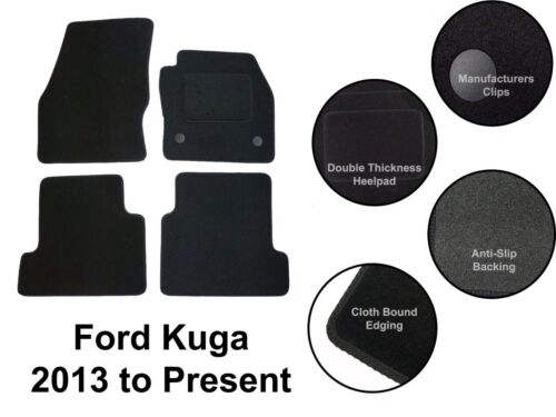 Made to Order Fully Tailored Black Carpet Car Floor Mats Set Fit Ford Kuga 2013