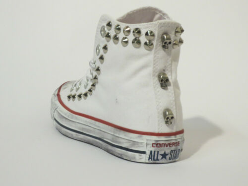 Hi Borchie Star Artigianali Bianco White Scarpe All Converse Optical Donna Uomo 4qSwW
