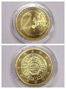 Münze 2 Euro Bimetall 10 Jahre Euro Bundesrepublik Deutschland