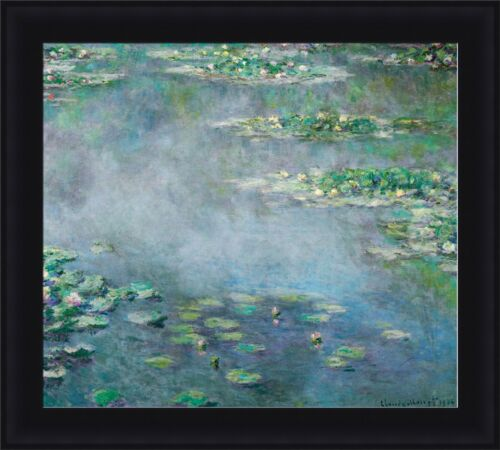 """Claude Monet The Water Lilies Framed Canvas Giclee Print 30/""""x27/"""" V01-03"""