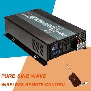 12v 24v to 120v 220v 2000w pure sine wave power inverter with remote control ebay. Black Bedroom Furniture Sets. Home Design Ideas