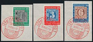BUND-1949-MiNr-113-15-auf-wunderschoenen-Luxusbriefstuecken-Mi-140