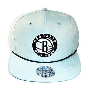new concept 46e48 ca2d1 Image is loading Mitchell-amp-Ness-NBA-Brooklyn-Nets-Snapback-Hat-