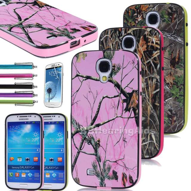 Camo Grass Tree TPU Hybrid Impact Hard Case Cover For Samsung Galaxy S4 IV i9600