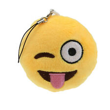 Cute Emoji Smiley Bag Accessory Design Shape Key Chain Soft Toy Gift Pendant  N6