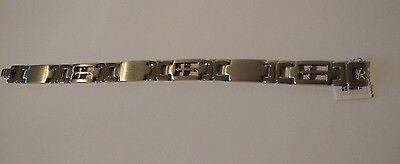 Men's Stainless Steel Cross Bracelet (REDUCED)