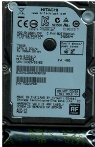 Brand New Hitachi HTS541075A9E680, 5400RPM, 6.0Gp/s, 750GB SATA 2.5 HDD 829686002265