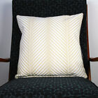 New PALM CHEVRON CUSHION COVER - White on Natural Cushion
