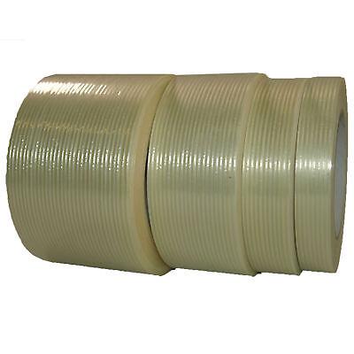 Gut Gewebe Filamentband 25-38-50-75mm X 50m Glasfaser Klebeband Packband Transparent Weniger Teuer