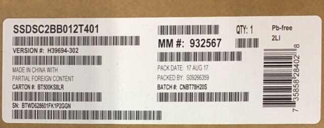 Intel SSDSC2BB012T401 SSD DC S3500 Series 1.2TB, 2.5in SATA 6Gb/s, 20nm, MLC NEW