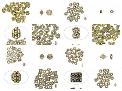 8832 Spacer beads gold finish pewter 6x3mm rondelle beads 100 pc