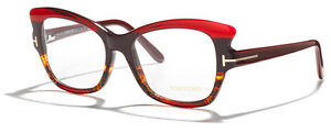 Neuf-TOM-FORD-TF5268-FT5268-5268-Rouge-epais-Cadre-Optique-Verres-De-Lunettes