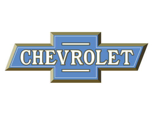 Vintage 50/'s Chevy Bowtie Blue /& Gold Vinyl Wall Decal Graphic Garage Stickers