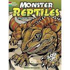 Monster Reptiles Coloring Book: A Close-Up Coloring Book by Diana Zourelias (Paperback, 2012)