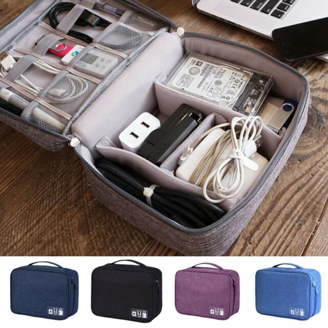 Digital Storage Bags Travel Gadget Organizer Case For Hard Cable Disk//USB//D I2A2