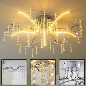 Das Bild Wird Geladen LED Deckenleuchte Design Wohn Zimmer Leuchte Chrom Decken