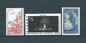 TABLEAUX-d-039-ART-1980-YT-2077-a-2079-TIMBRES-NEUFS-LUXE