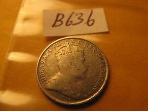 Canada-1902-No-H-Rare-5-Cent-Silver-Coin-ID-B636
