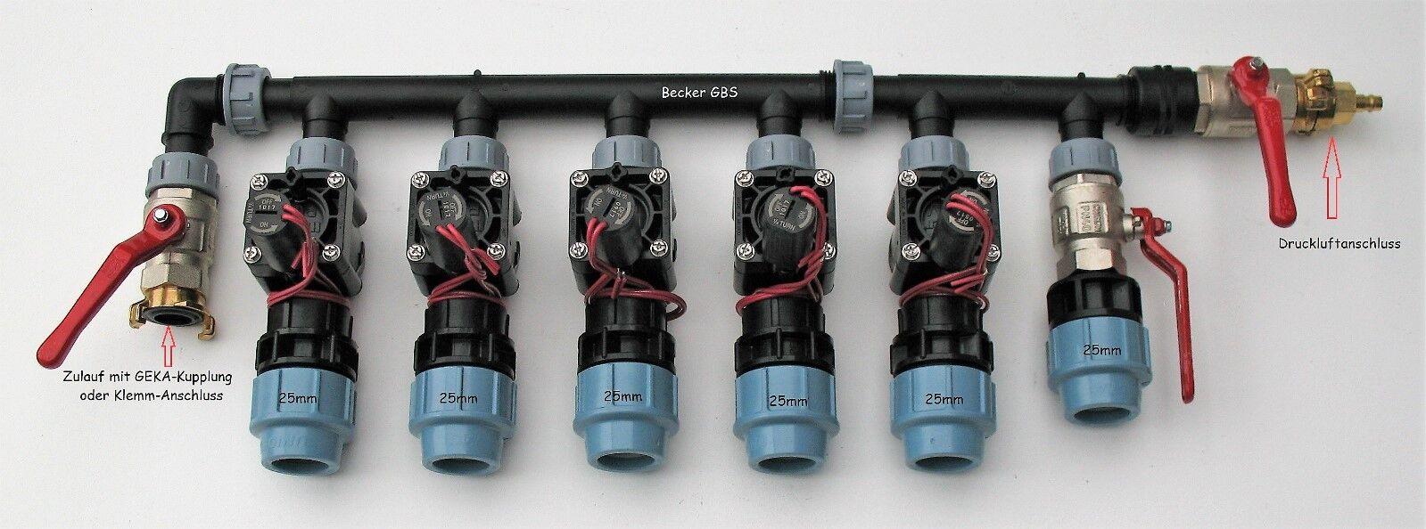 Hunter Magnetventil-Grüneiler für 5 Stationen in 8 Varianten ( vormontiert )