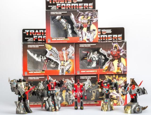TRANSFORMERS G1 Reissue Dinobots set Grimlock//Swoop//Slag//Snarl//Sludge MISB