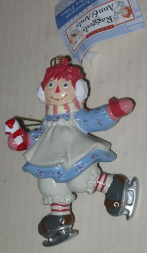 Raggedy Ann Ice Skater Ornament Approx 4.5/""