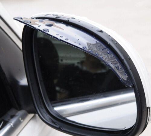 1 Pair Black Car Rearview Mirror Rain Water Rainproof Eyebrow Cover Side Shield